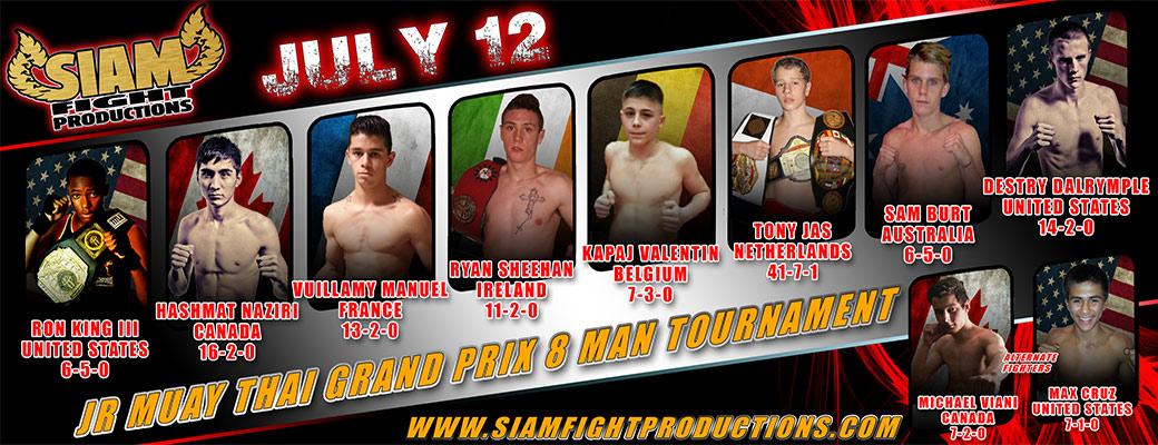 Siam Fight Productions Announces 2014 8-Man Tournament Line-up
