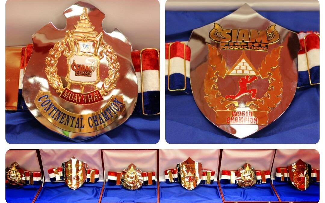 Siam Fight Productions Releases Images of New Title Belts!